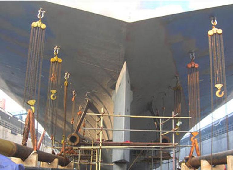起重葫芦在船舶制造中的应用案例01
