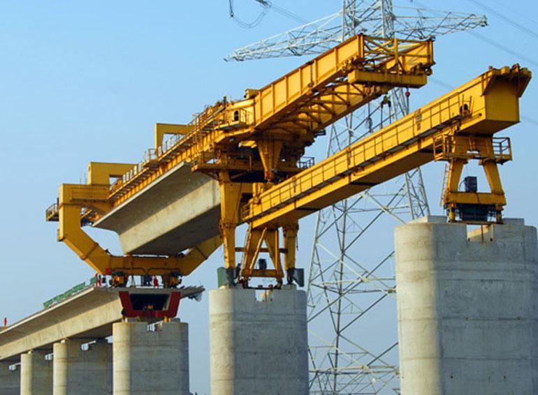 起重葫芦在高铁、高架公路施工中的应用案例01